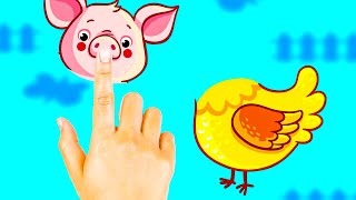 Animals Puzzle Song for Young Kids | Can You Guess the Body? By Muffin Socks