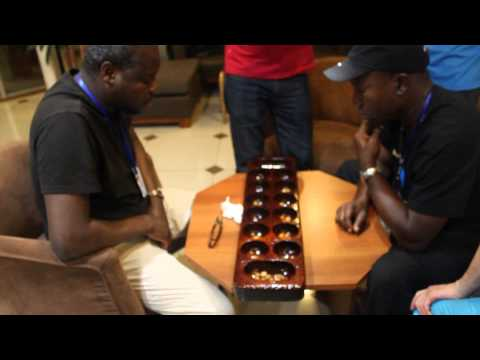 Match between Grandmaster players Trevor Simon of Antigua & Barbuda and Ibrahim Abubakar of Ghana