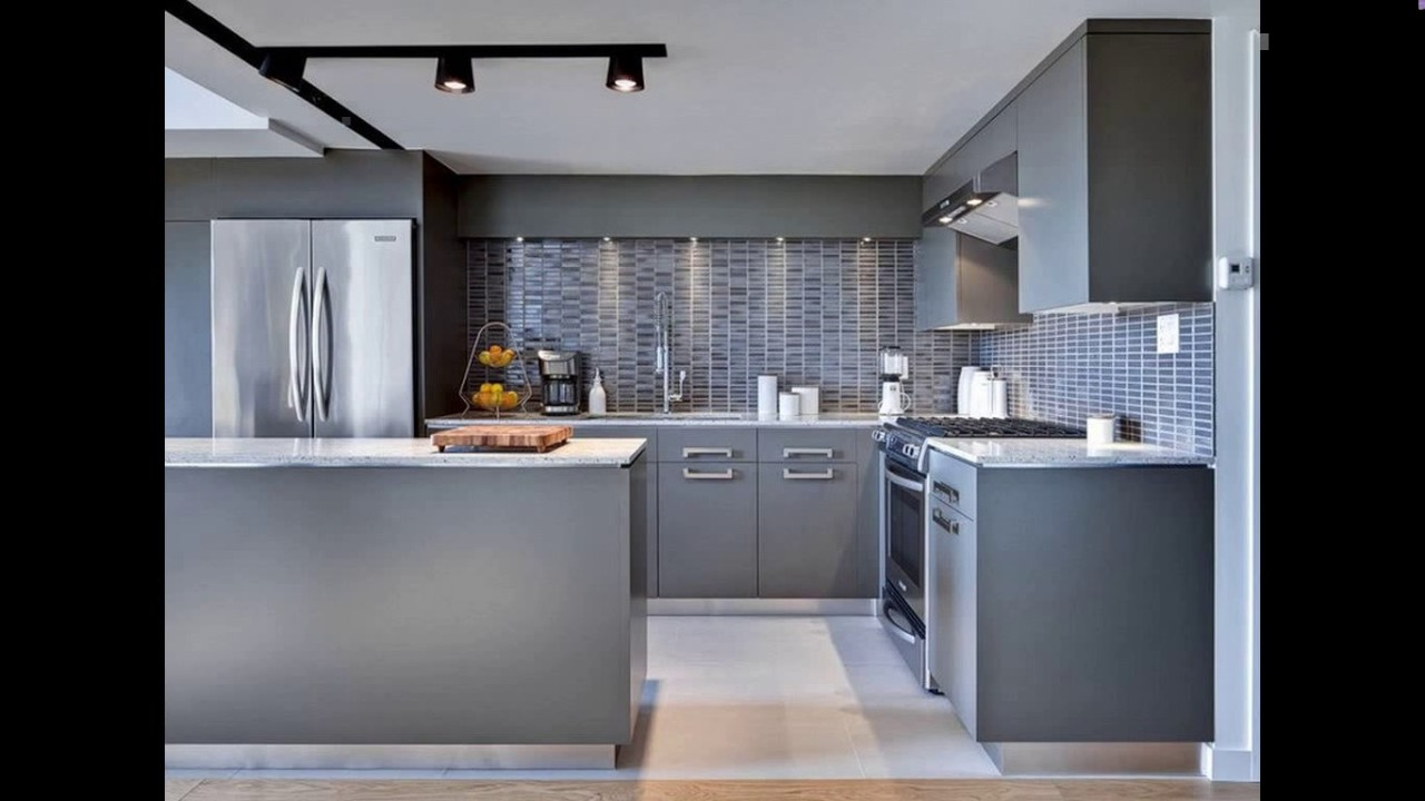 kitchen design grey colour. Grey colour kitchen design  YouTube