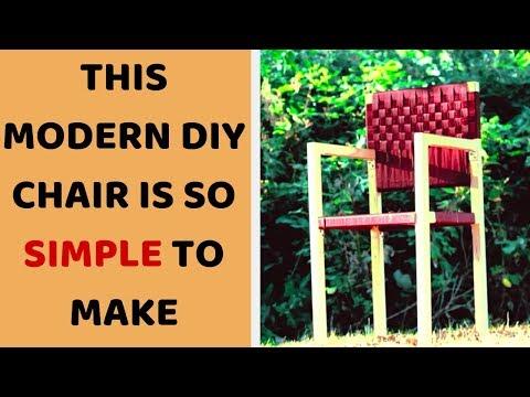 Outdoor Furniture DIY  - Modern Wooden Chair Design