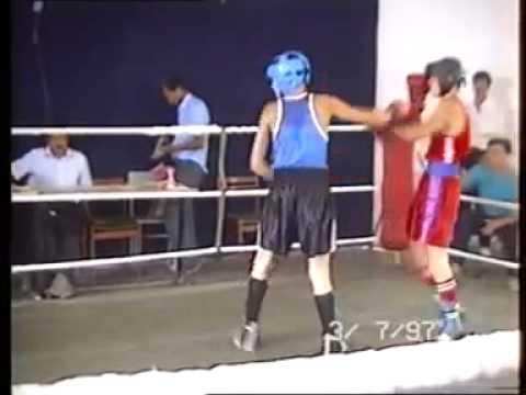 (Rare Fotage) Gennady Golovkin (black shorts)VS Bakhtiyar Artayev 1997