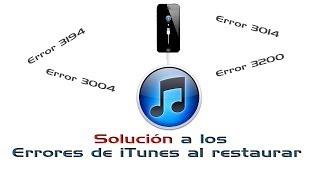 Como solucionar los errores de iTunes al momento de restaurar.