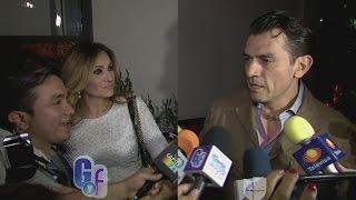 Jorge Salinas explotó contra reportero que tocó la pancita de Elizabeth Álvarez
