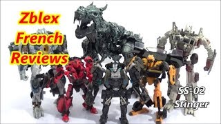 Takara Tomy Studio Series 02 Deluxe Class Stinger (Review in French)