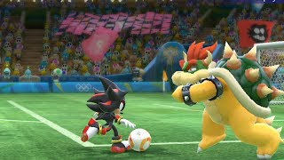 Football-Team Bowser vs Team Shadow(CPU)- Mario and Sonic at The Rio 2016 Olympic Games