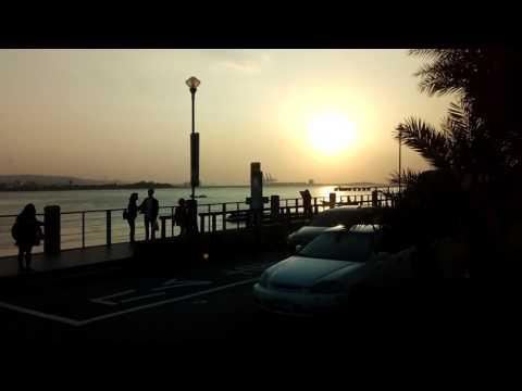 Bus ride along Tamsui River - Taiwan