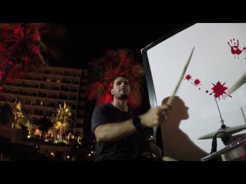 Leo Ehrlich Playing drums at Crowne Plaza - Yas Island - Abu Dhabi - 2