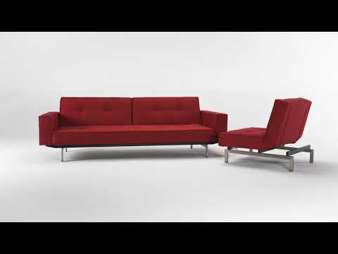 Innovation Living Splitback Stainless Steel chair Modern Sleeper Sofa @ Z Furniture Virginia