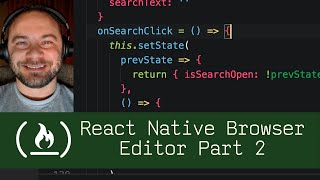 React Native Browser Editor Part 2  (P8D3) - Live Coding with Jesse