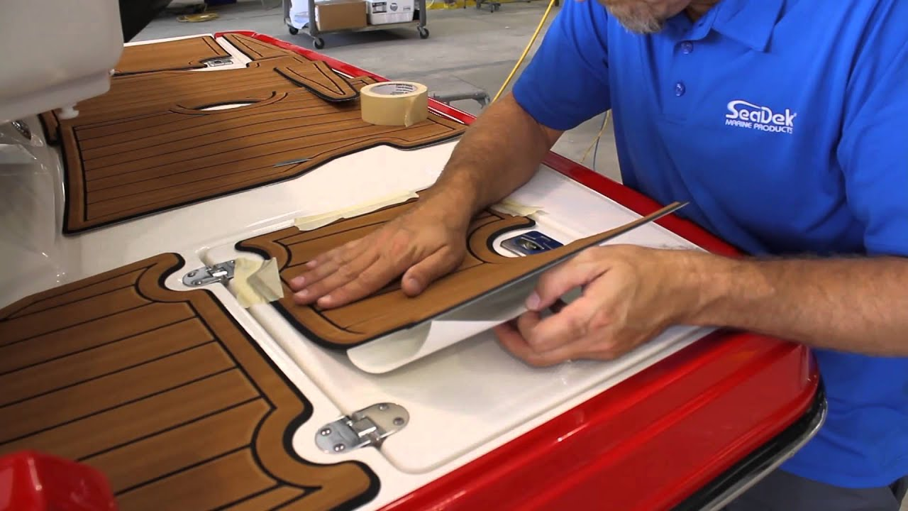 Installing a SeaDek pad on a Monterey 214 SS  YouTube