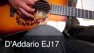 D'Addario EJ17 and D'Addario EXP
