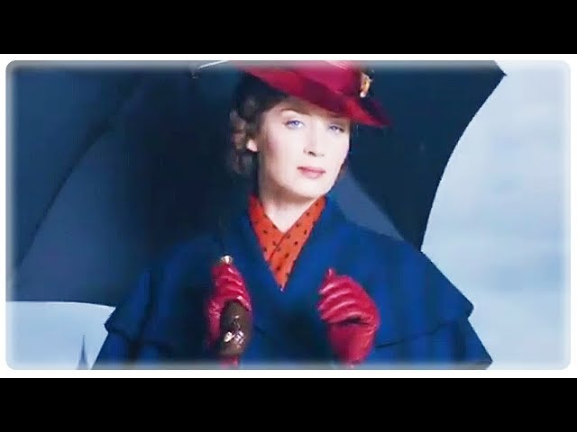 MARY POPPINS RETURNS Trailer Teaser (2018) Emily Blunt Disney Movie HD