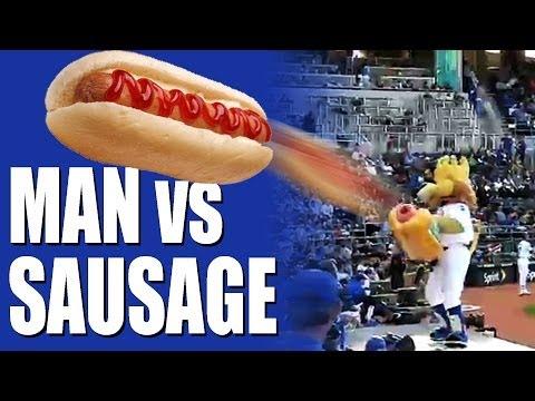 Man vs Sausage - air powered hot dog detaches retina
