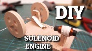 Fabriquer un simple moteur Solénoïde / DIY Solenoid engine