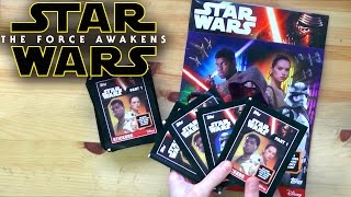 TOPPS Star Wars The Force Awakens Stickers (Official) Opening - Part 1