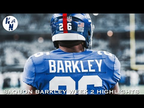 Saquon Barkley Week 2 Highlights   ᴴᴰ   ||   Giants vs Cowboys   ||   9/16/18