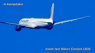 nikon coolpix l830 zoom test plane