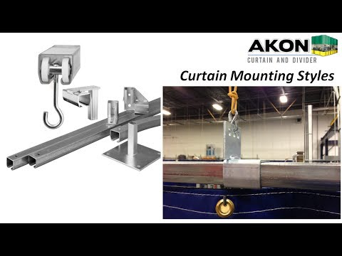 Industrial Curtain Mounting Options