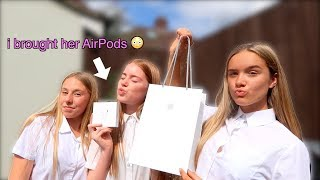 surprising my BESTFRIEND with apple AIRPODS !!