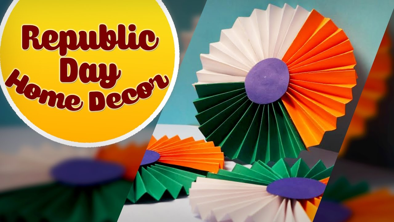 Republic day diy home decor easy to make decoration craft basket youtube also rh