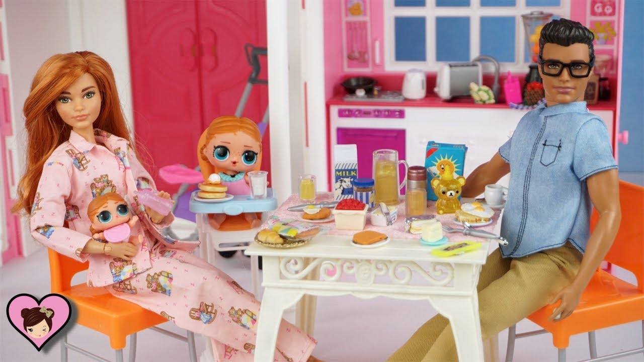 Barbie Badezimmer Set Barbie Doll Family Lol Surprise Baby Morning Routine Toddler Bedroom And Baby Nursery