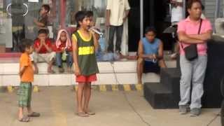 Cover song of (Whitney Houston) I Will always love you by a Kid
