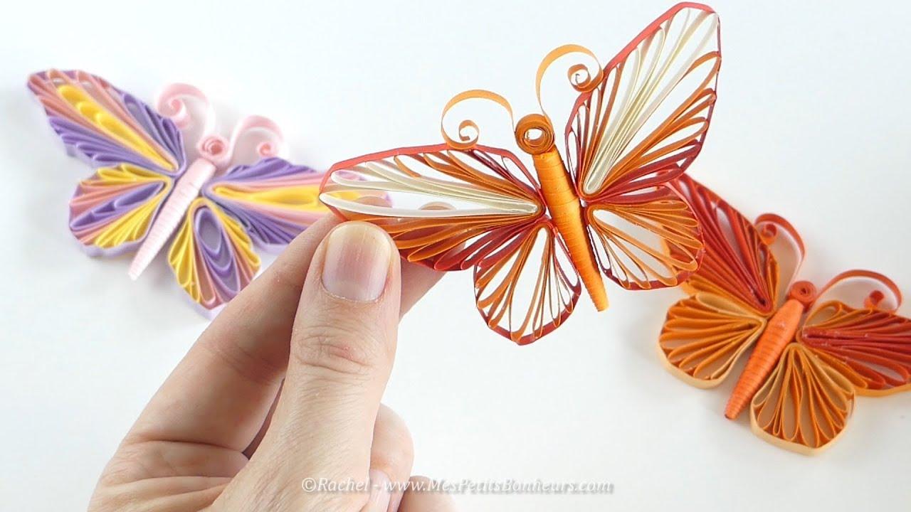 Papillon En Quilling Tuto Avec Gabarit A Imprimer Youtube