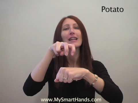 potato - ASL sign for potato