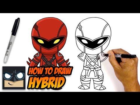 How to Draw Fortnite | Hybrid | Step-by-Step