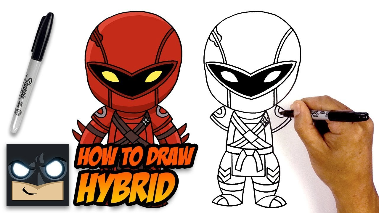 How To Draw Fortnite Hybrid Step By Step Youtube