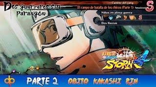 Naruto Shippuden Ultimate Ninja Storm 4 Parte 2 Gameplay Español PS4 | Obito Kakashi y Rin (niños)