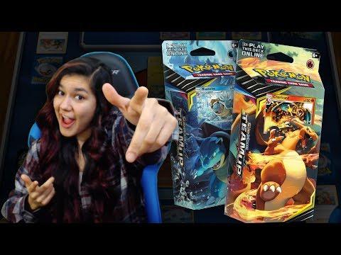 UNBOX & BATTLE! Pokemon Relentless Flame and Torrential Cannon Decks (Charizard & Blastoise)