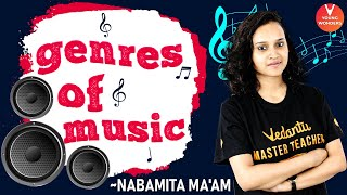 Genres of Music 🎶 by Nabamita ma'am | Music Genres Explained @Vedantu Young Wonders