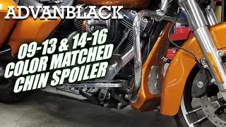 Advanblack Vivid Black ABS Chin Spoiler Fit 2009-2016 Air-Cooled Harley Touring