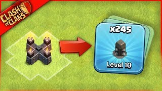 HE FARMED 245 WALLS? Clash of Clans ...HOW CAN THIS BE!