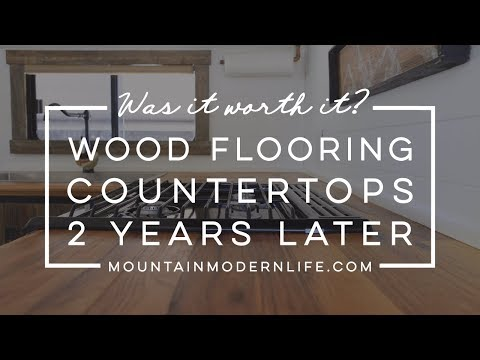 Our Wood Flooring Countertops - 2 Years Later