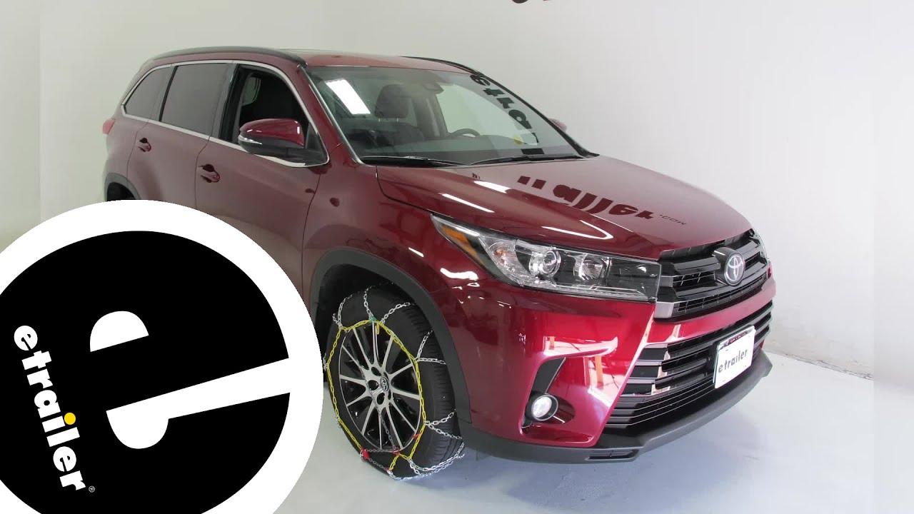 An Chain Alloy Snow Tire Chains Installation 2017 Toyota Highlander Etrailer