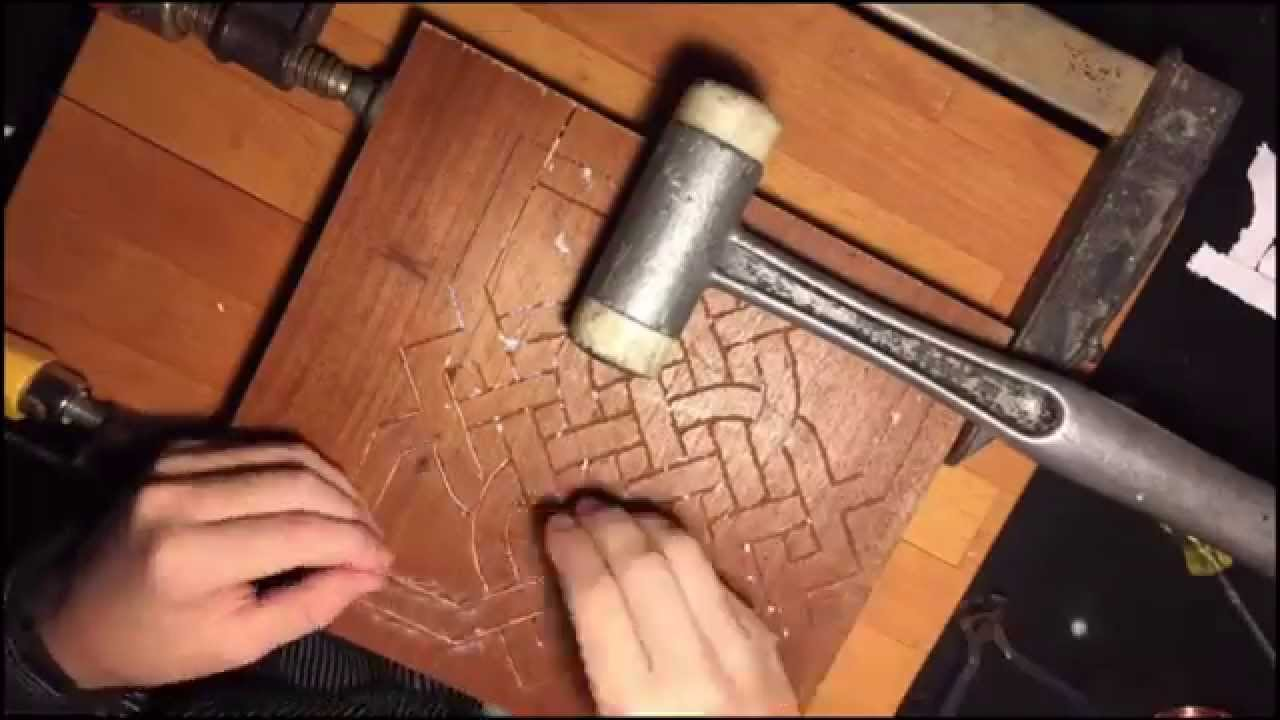 Diy Detailed Copper Wire Inlay Youtube