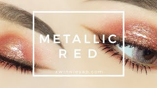 Festive Metallic Red