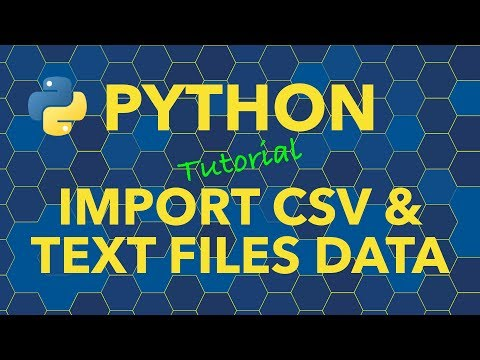 Python Import Data from CSV and Text Files