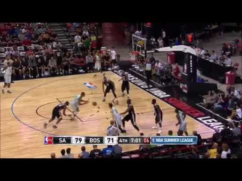 Jordan Mickey vs Spurs at Las Vegas Summer League - 18 pts, 3 blks