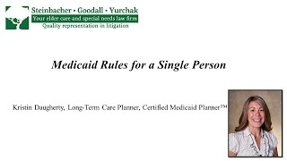 Kristin Daugherty: Medicaid Rules for a Single Person