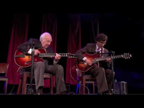 "Frank Vignola and Bucky Pizzarelli perform ""Moonglow"" in 2012."