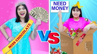 RICH POPULAR VS POOR NERD STUDENT | 6 FUNNY SITUATIONS BEING RICH AND BROKE BY CRAFTY CRAFTS
