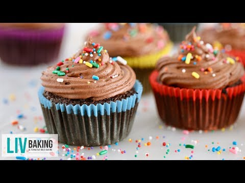 Simple Gluten-Free Chocolate Cupcakes | Liv Baking