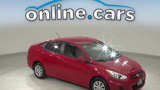 G12334TR 2017 Hyundai Accent Red Sedan Test Drive, Review, For Sale