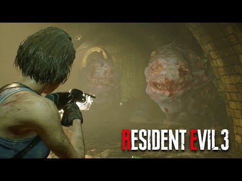 Resident Evil 3 Remake - Hunter Gammas in the Sewers | Jill Vs The Hunter Gammas