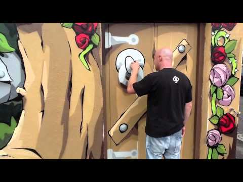 Cheo spray art Upfest Bristol 2012