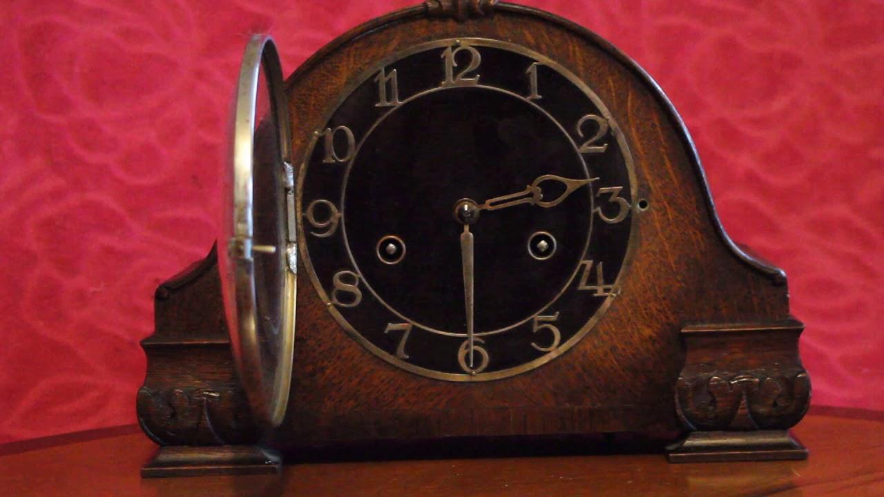Vintage german hac art deco 8 day mantel clock with chimes youtube vintage german hac art deco 8 day mantel clock with chimes amipublicfo Choice Image