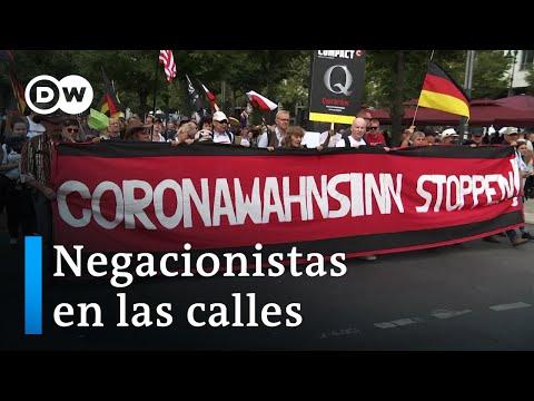 Berlín vivió una jornada de protestas contra las medidas por COVID-19